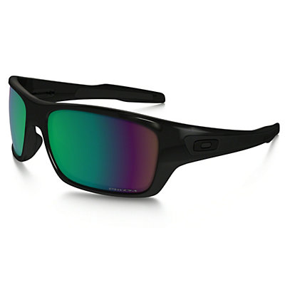 Oakley Turbine Polarized Sunglasses, Polished Black-Black Iridium Polarized, viewer