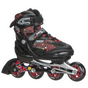 Roces Moody 4.0 Boys Adjustable Kids Inline Skates, Black-Red-Yellow, medium
