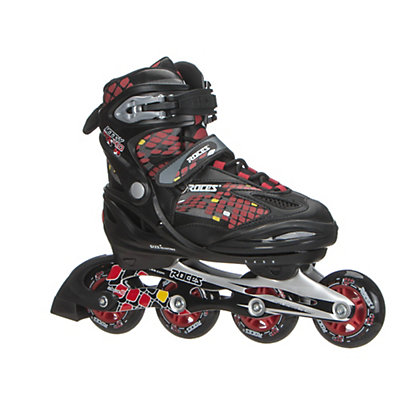 Roces Moody 4.0 Boys Adjustable Kids Inline Skates, Black-Red-Yellow, viewer