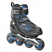 Roces Moody 4.0 Boys Adjustable Kids Inline Skates, Black-Astro-Blue-Red, medium