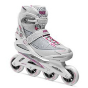 Roces Optic Womens Inline Skates, White-Carmine, medium