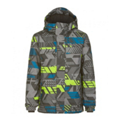 O'Neill Hubble Boys Snowboard Jacket, Grey Aop, medium