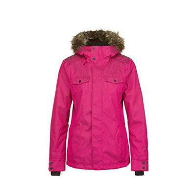 O'Neill Seraphine w/Faux Fur Womens Insulated Snowboard Jacket, Framboise Pink, viewer