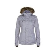 O'Neill Seraphine w/Faux Fur Womens Insulated Snowboard Jacket, Siberian Grey, medium