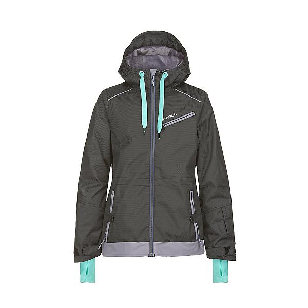O'Neill Furry Girls Snowboard Jacket, Black Out, 600