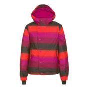 O'Neill Carat Girls Snowboard Jacket, Pink Aop, medium