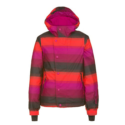 O'Neill Carat Girls Snowboard Jacket, Pink Aop, viewer