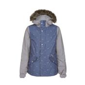 O'Neill Gemstone Girls Snowboard Jacket, Sunrise Blue, medium