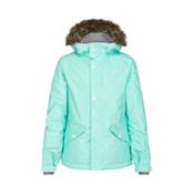 O'Neill Gemstone Girls Snowboard Jacket, Aqua Sky, medium