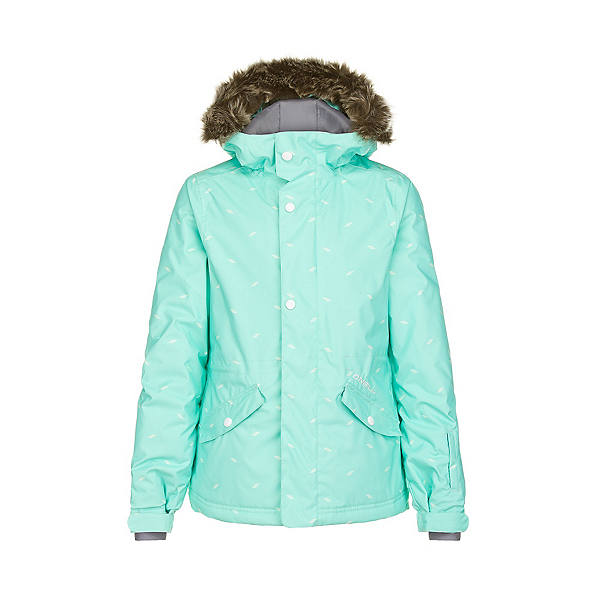 O'Neill Gemstone Girls Snowboard Jacket, Aqua Sky, 600