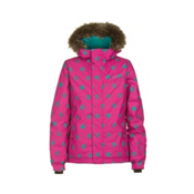 O'Neill Radiant Girls Snowboard Jacket, Framboise Pink, medium