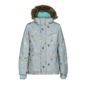 O'Neill Radiant Girls Snowboard Jacket, Grey Aop, medium