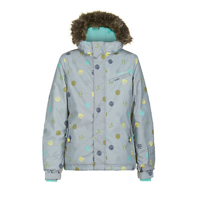 O'Neill Radiant Girls Snowboard Jacket, Grey Aop, viewer
