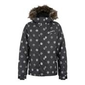 O'Neill Radiant Girls Snowboard Jacket, Black Aop, medium