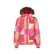 O'Neill Tigereye Girls Snowboard Jacket, Orange Aop, medium