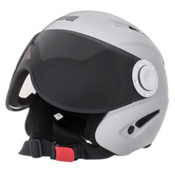 OSBE Proton Jr. Kids Helmet, Metal Silver, medium