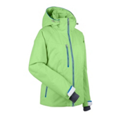 Nils Kristina Womens Insulated Ski Jacket, Lime-White-Ocean, medium