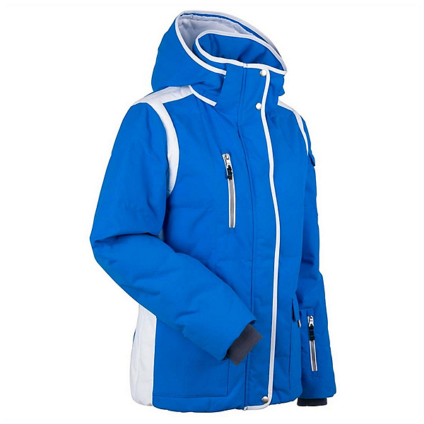 NILS Ingrid Womens Insulated Ski Jacket, Ocean-White, 600