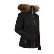 Nils Darlene Real Fur Womens Insulated Ski Jacket, Black, medium