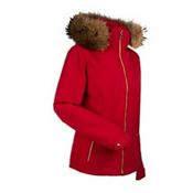 Nils Darlene Real Fur Womens Insulated Ski Jacket, Red, medium