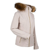 Nils Darlene Real Fur Womens Insulated Ski Jacket, Stone, medium