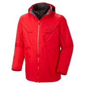 Columbia Whirlibird Interchange Mens Insulated Ski Jacket, Bright Red, medium