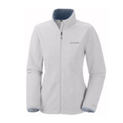 Columbia Wind Protector Fleece Womens Jacket, White, medium
