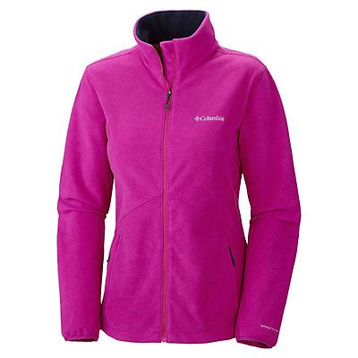 Columbia Wind Protector Fleece Womens Jacket, Red Hibiscus, viewer