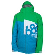 686 Mannual Iconic Mens Insulated Snowboard Jacket, Bluebird, medium