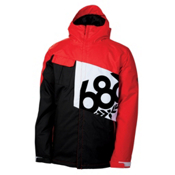 686 Mannual Iconic Mens Insulated Snowboard Jacket, Chili, medium
