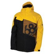 686 Mannual Iconic Mens Insulated Snowboard Jacket, Yellow, medium