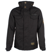 686 LTD Crooks and Castles Medusa Mens Insulated Snowboard Jacket, Black Pincord, medium