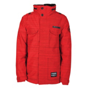 686 LTD Crooks and Castles Medusa Mens Insulated Snowboard Jacket, Red Slub, medium