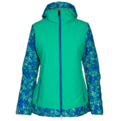 686 Authentic Rhythm Womens Insulated Snowboard Jacket, Blue Floral Camo, medium
