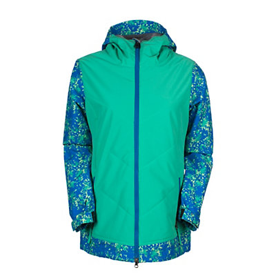 686 Authentic Rhythm Womens Insulated Snowboard Jacket, Blue Floral Camo, viewer