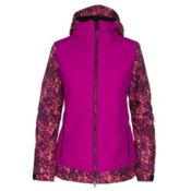 686 Authentic Rhythm Womens Insulated Snowboard Jacket, Plum Floral Camo, medium