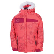 686 Mannual Gidget Puffy Girls Snowboard Jacket, Coral, medium