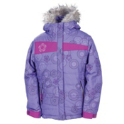 686 Mannual Gidget Puffy Girls Snowboard Jacket, Violet, medium