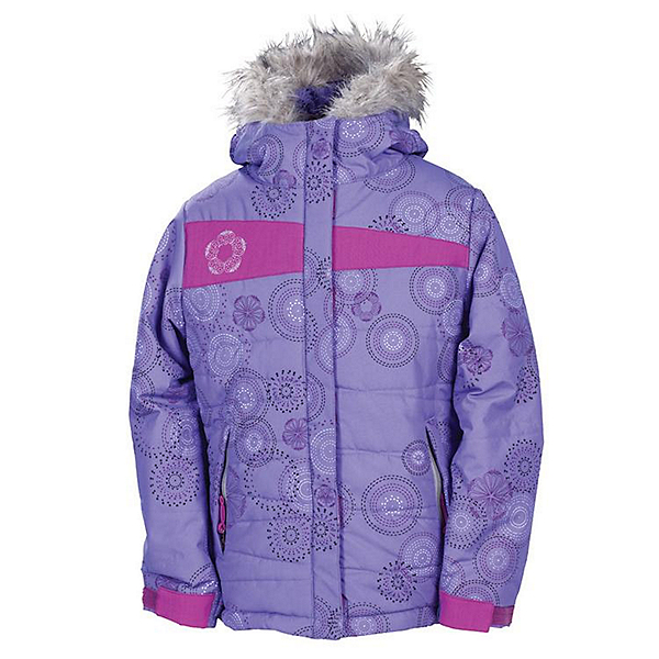 686 Mannual Gidget Puffy Girls Snowboard Jacket, Violet, 600