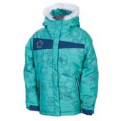 686 Mannual Gidget Puffy Girls Snowboard Jacket, Seafoam, medium