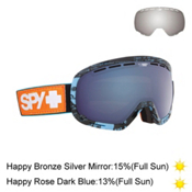 Spy Marshall with Happy Lens Goggles, All Dayer-Happy Rose W Dark Bl + Bonus Lens, medium
