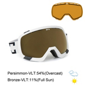 Spy Platoon Goggles, White-Bronze + Bonus Lens, medium