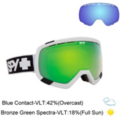 Spy Platoon Goggles, White-Bronze W Green Spectra + Bonus Lens, medium