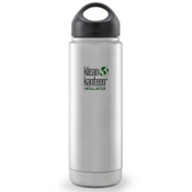 Klean Kanteen 20oz Wide Vacuum Insulated Water Bottle 2016, Brushed Stainless, medium