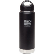 Klean Kanteen 20oz Wide Vacuum Insulated Water Bottle 2016, Shale Black, medium