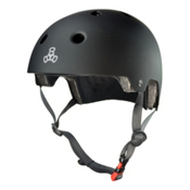 Triple 8 Brainsaver EPS Liner Mens Skate Helmet, Black Rubber, medium