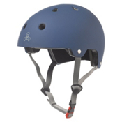 Triple 8 Brainsaver EPS Liner Mens Skate Helmet, Blue Rubber, medium