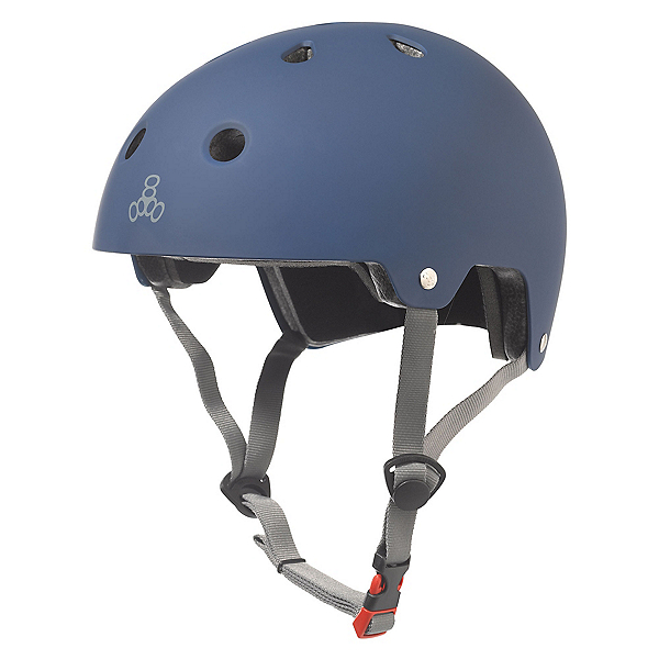Triple 8 Brainsaver EPS Liner Mens Skate Helmet, Blue Rubber, 600