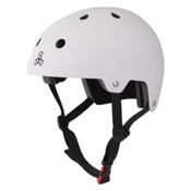 Triple 8 Brainsaver EPS Liner Mens Skate Helmet, White Rubber, medium