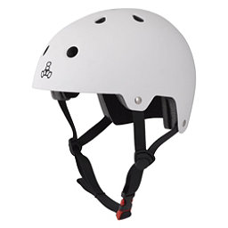 Triple 8 Brainsaver EPS Liner Mens Skate Helmet, White Rubber, 256